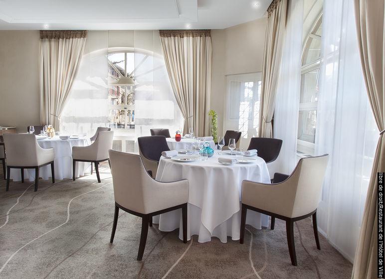 位于克里西耶的 Restaurant de l'Hôtel de Ville,维持了米其林三星的殊荣 (图片:libre de droit/ Restaurant de l'Hôtel de Ville)