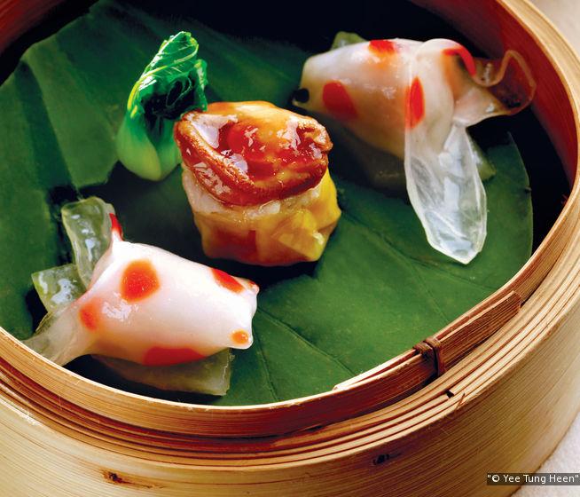 怡東軒的金魚餃,造型維俏維妙。