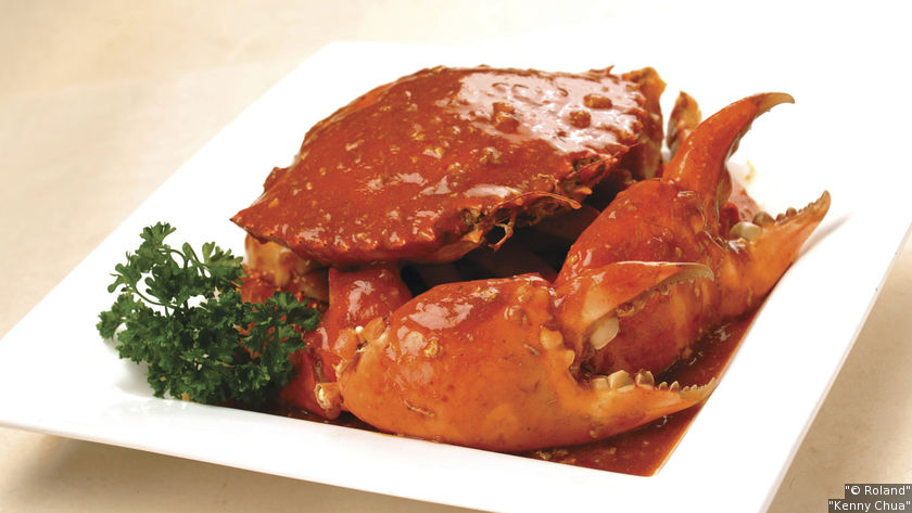 Chilli crab from Roland, a MICHELIN Plate restaurant