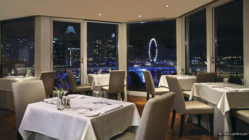 The stalwart Lighthouse Restaurant & Rooftop Bar boasts panoramic views of the Marina Bay promenade. (Photo: The Lighthouse)