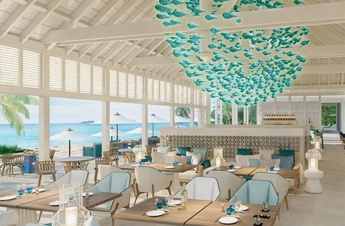 Artist impression of Aux Amis, one of the restaurants chef Martin will oversee at the soon-to-open Le Barthelemy resort on the island of St Barth's