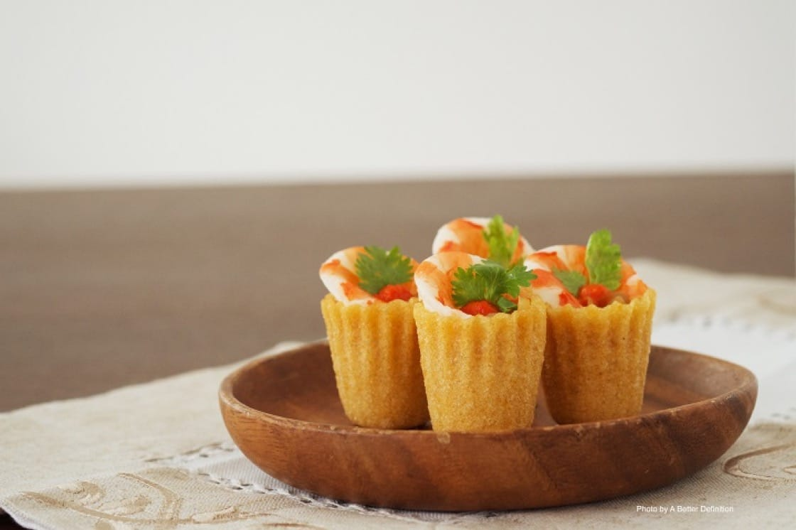 Kueh Pie Tee, a traditional Peranakan dish, served at Candlenut.