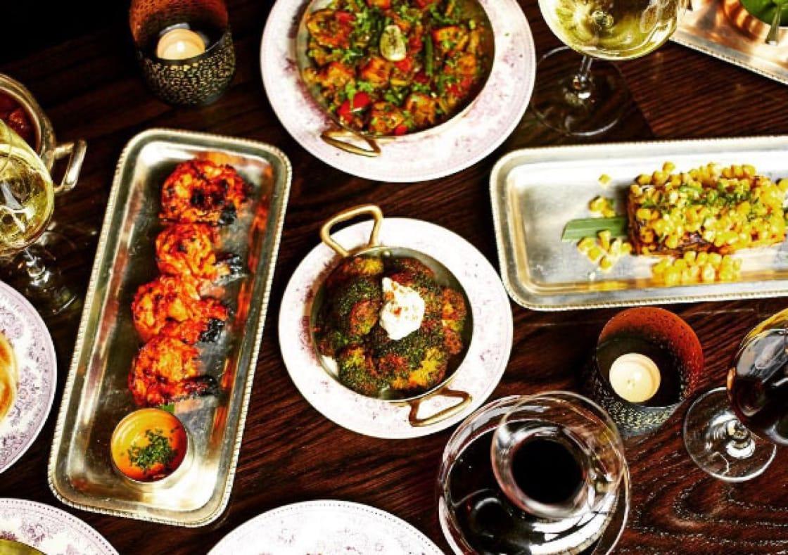 The food from Gymkhana. Photo credit: @Gymkhanalondon's Instagram