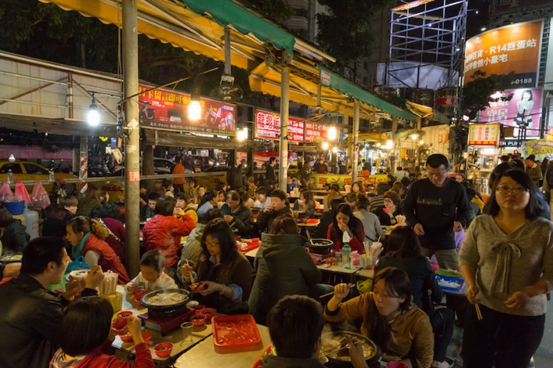 Night markets are popular in Kaohsiung.