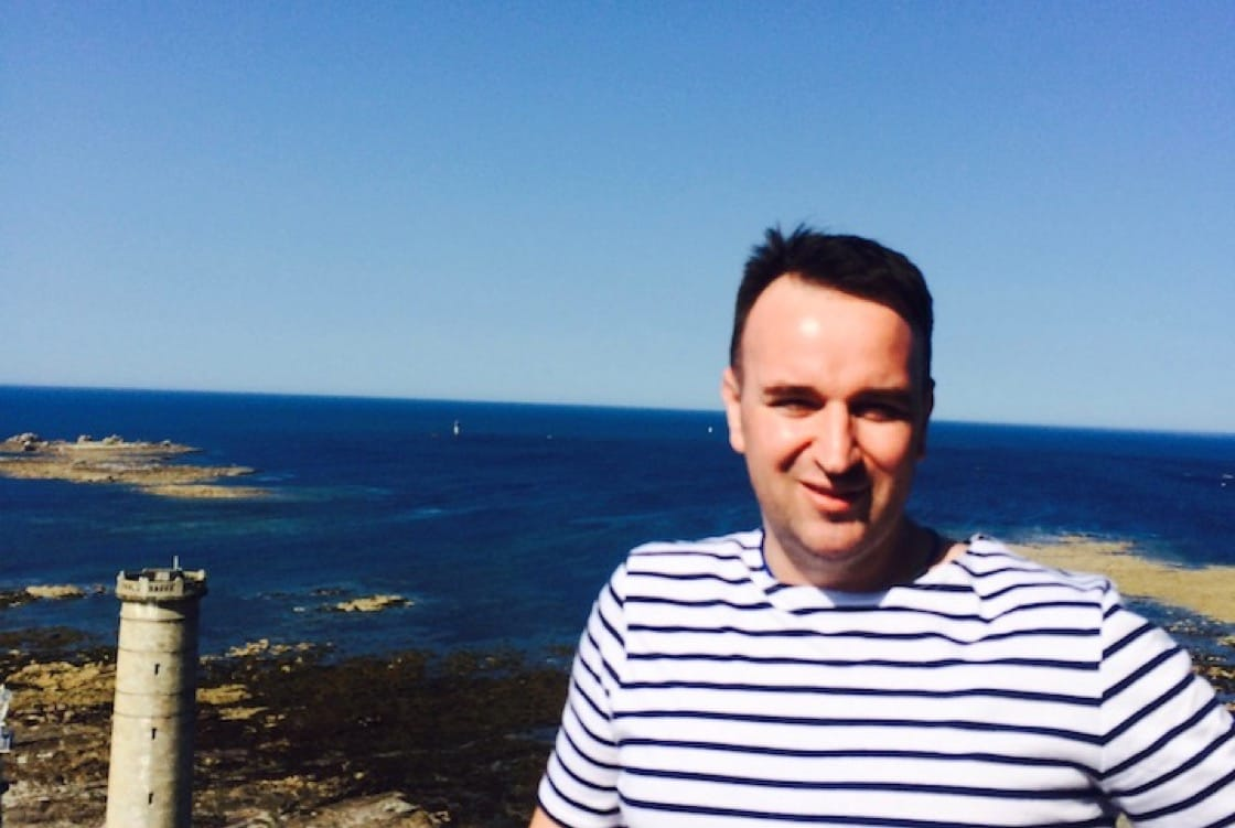 Chef Lepinoy spending summer in Brittany, France.