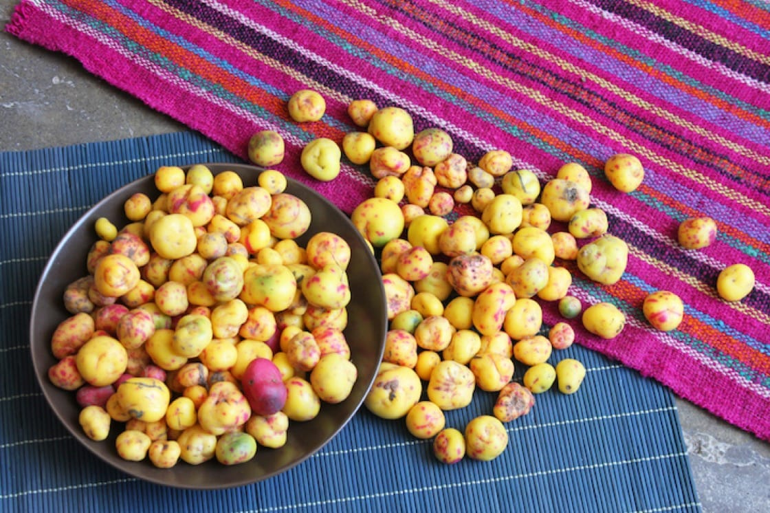 Peruvian potatoes come in all shapes and colours, and more importantly, genetically unmodified.
