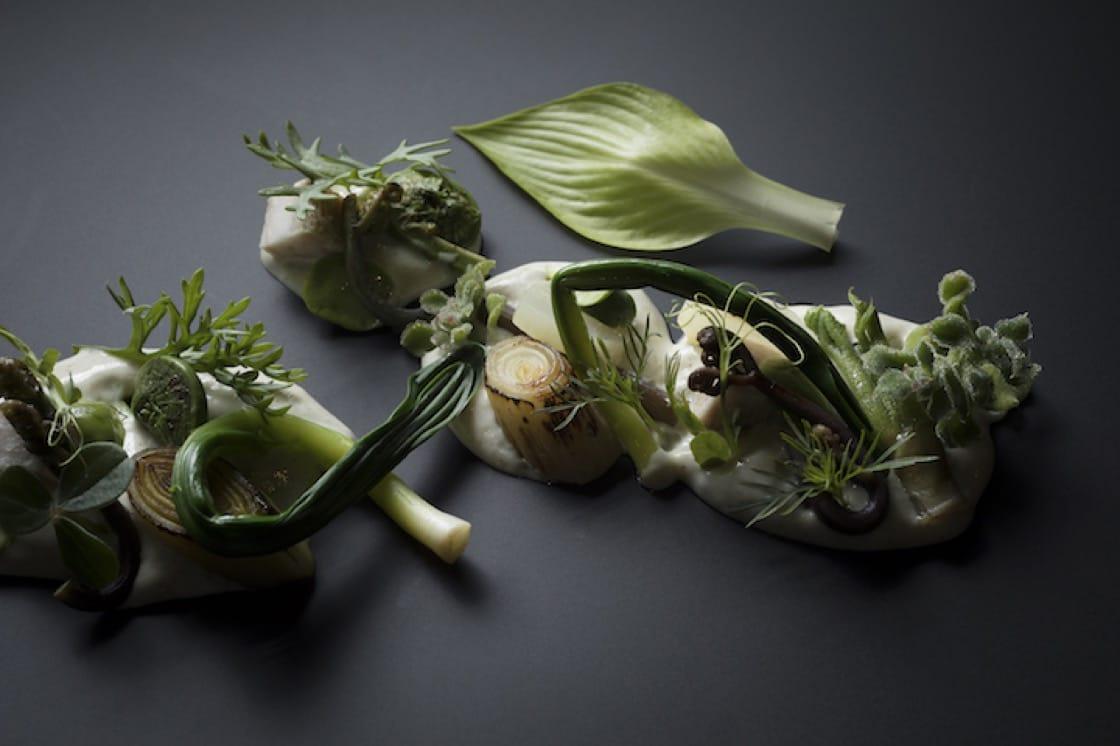 主厨 Aitor 对山菜的诠释。