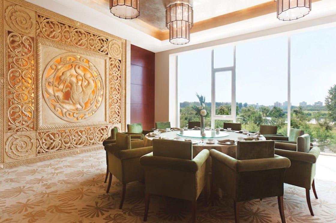 北京首都国际机场的朗豪酒店明阁中餐厅。照片:朗廷酒店