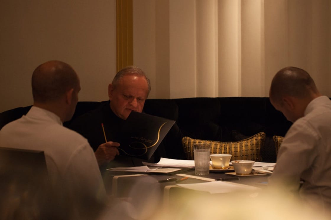 Joel Robuchon, the chef with the most number of Michelin-starred restaurants.