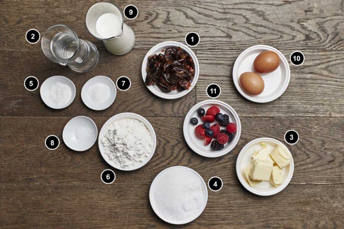 The ingredients to make chef Daniel Sia's Sticky Date Pudding. Photography: Wong Weiliang.
