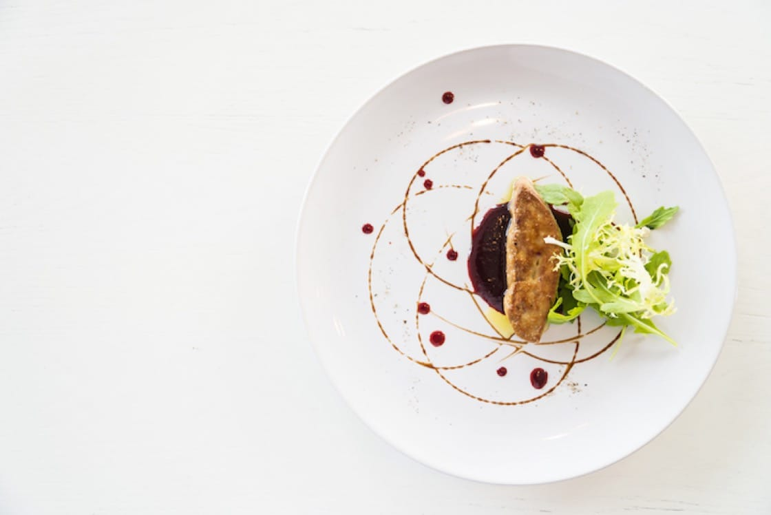 Foie gras pairs well with sweet wine