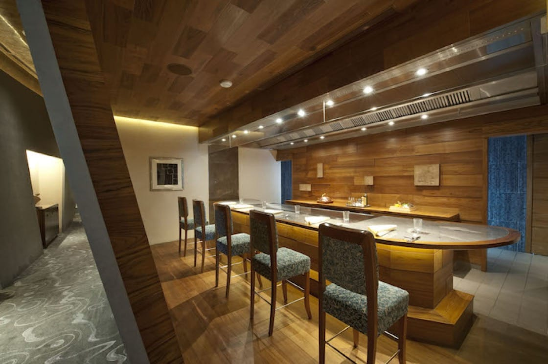 The private dining area at Waku Ghin, a new restaurant in the two Michelin stars category