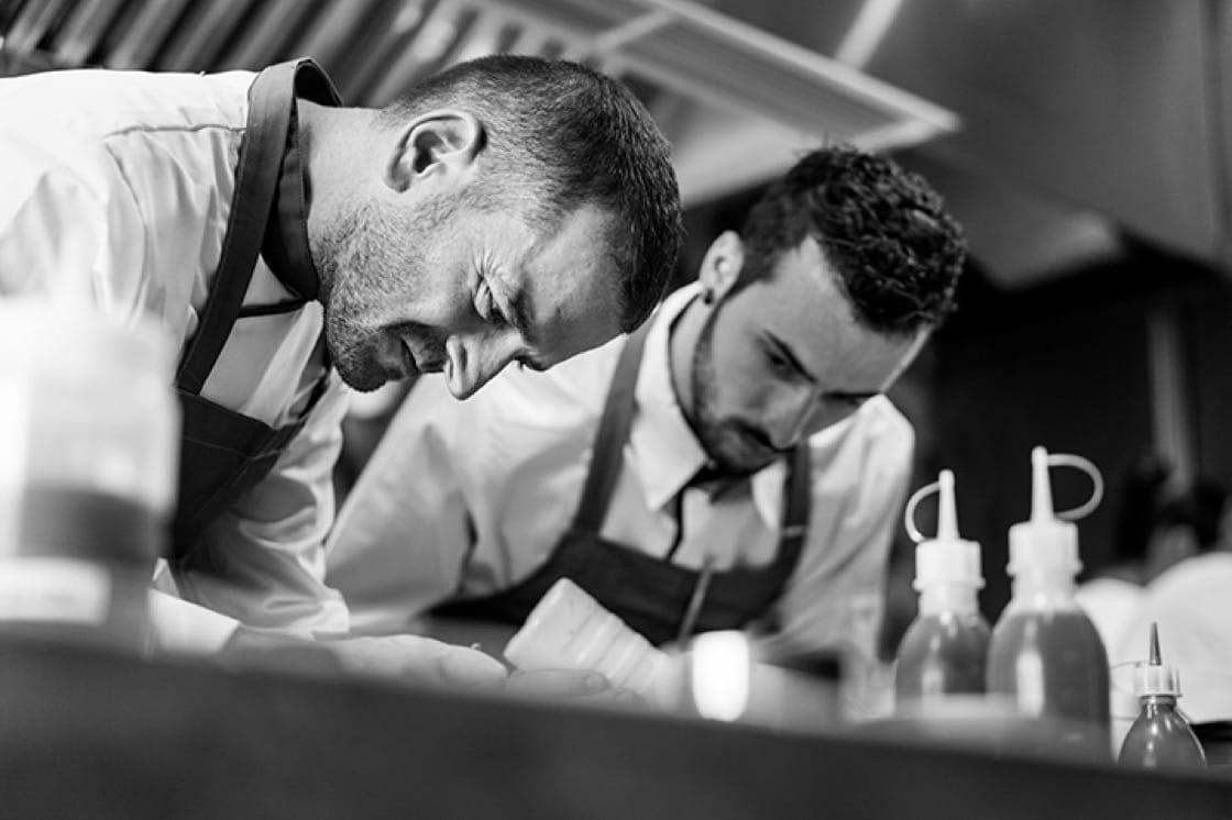 Chefs Beppe De Vito and Mirko Febbrile.