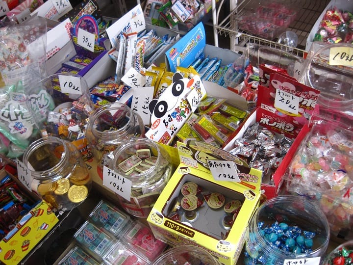 An array of Japanese sweets