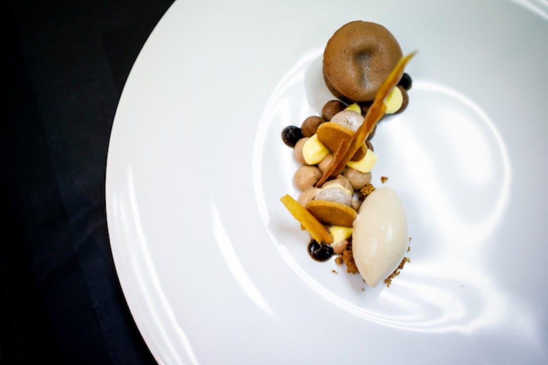 Chocolate Espresso dessert by chef Kirk Westaway