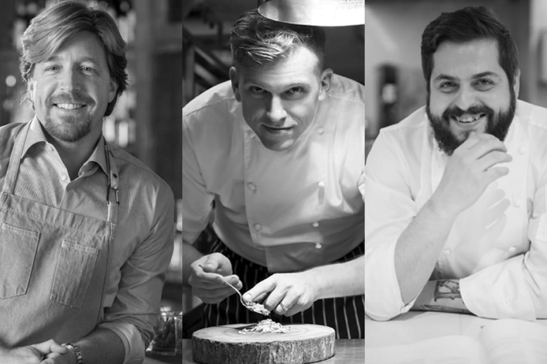 Left: John Kunkel from The Bird Southern Table & Bar, Steve Allen from Pollen, Aitor Orive from Iggy's.