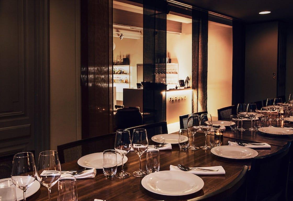The sleek interiors of Farang. Photo Credit: Restaurant Farang Helsinki.