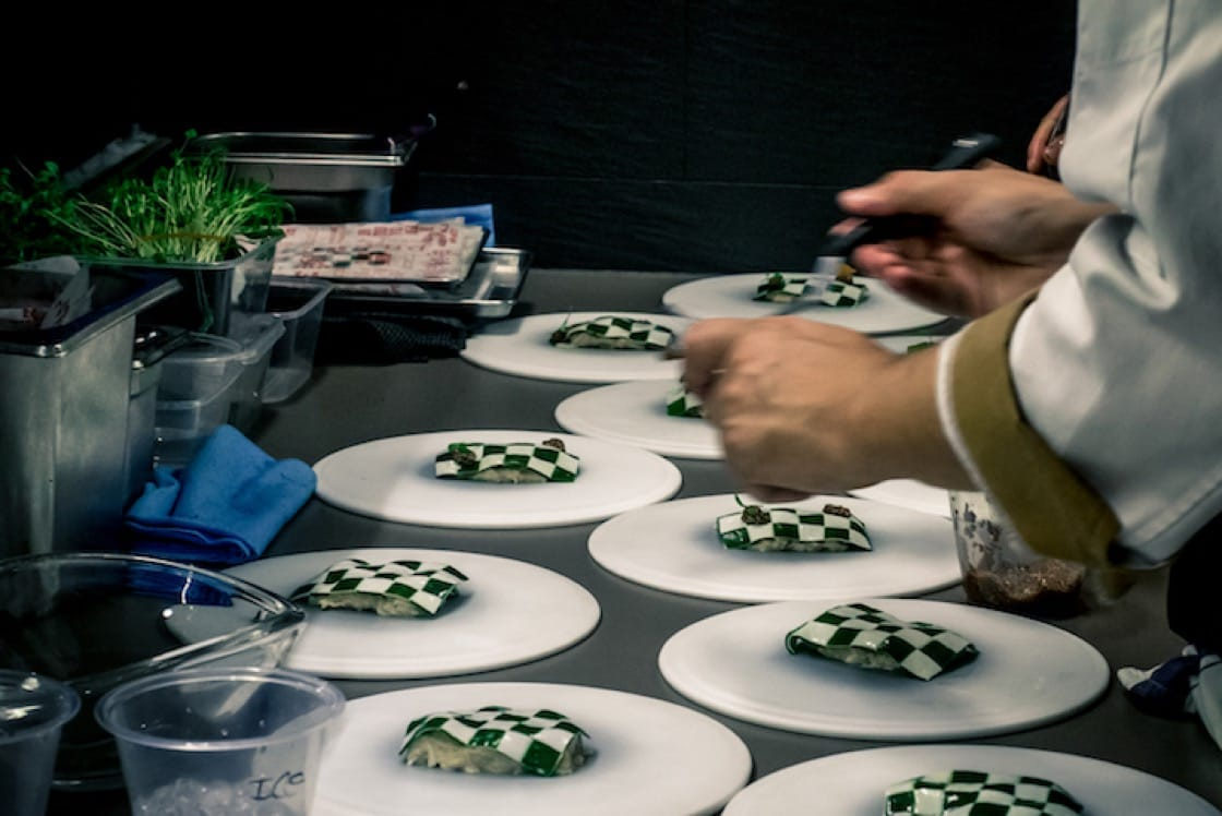 A collaboration between Restaurant ANDRE and Tickets (Chef Albert Adria). Photo Credit: Nat K.