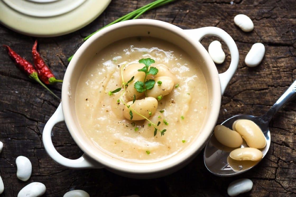 香滑濃郁的白豆湯