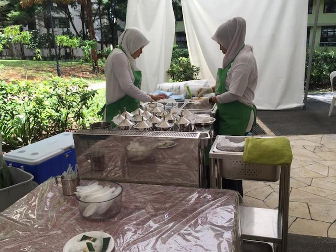 Haig Road Putu Piring, catering for an event.