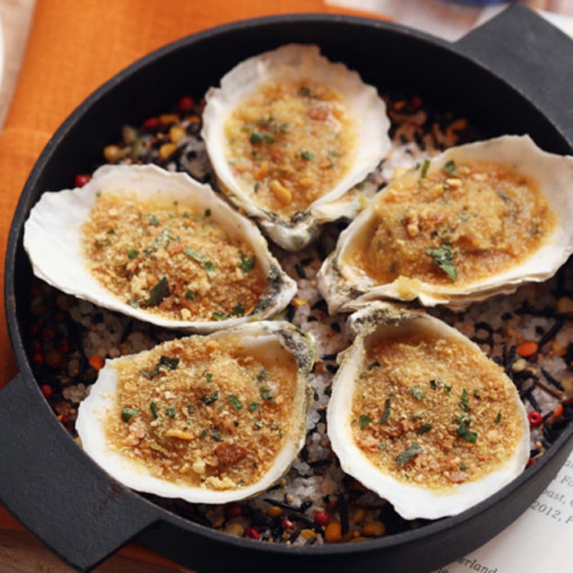 Oysters Rockefeller at Neptune Oyster.