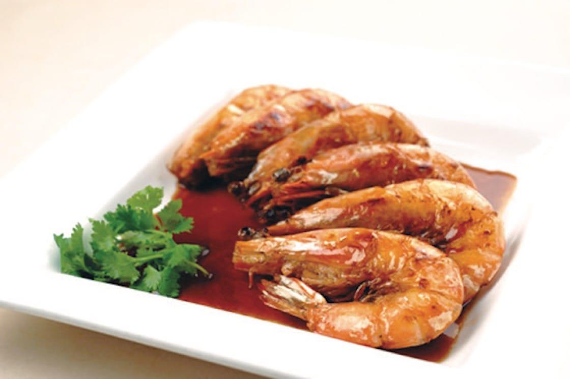 徐炎珍女士的招牌醬油大虾。