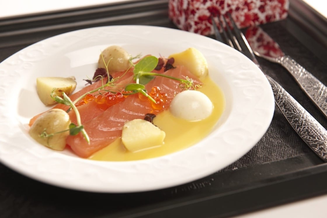 First-class dish dreamed up by three Michelin-star chef Jonnie Boer for KLM