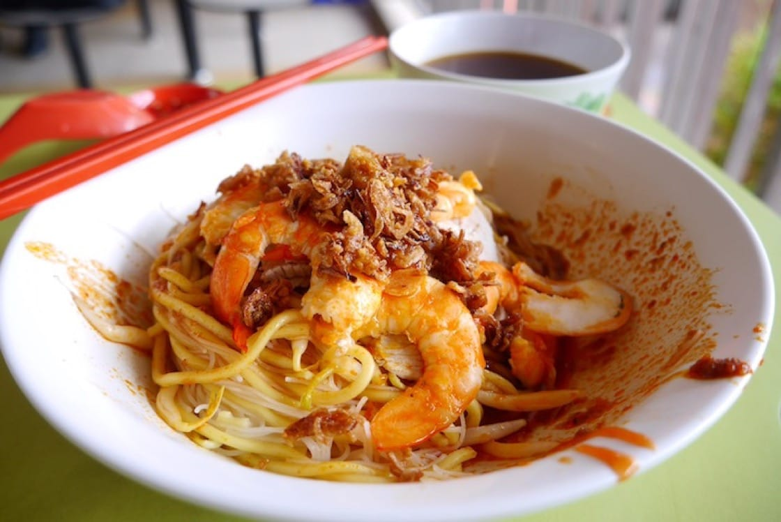 Dry hae mee from 545 Whampoa Prawn Noodles, which according to the chef-owner Li Ruifang, is the most popular version among her customers.