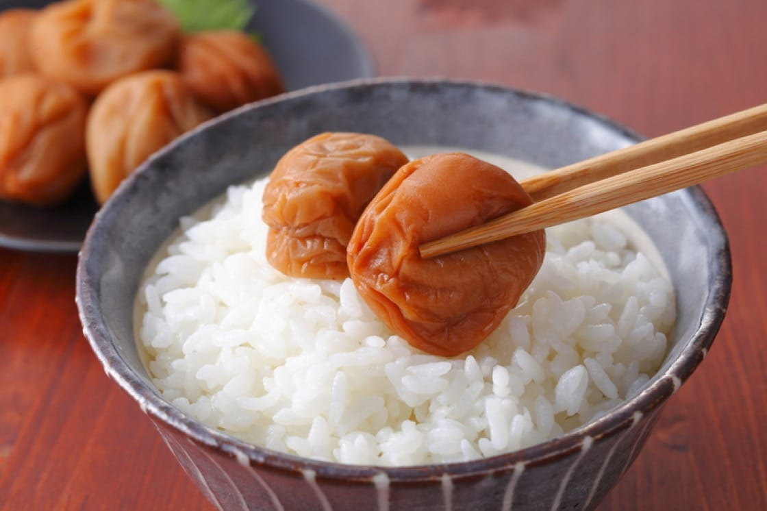 """Umeboshi is translated into English as """"Japanese salt plums"""", """"salt plums"""" or """"pickled plums."""""""