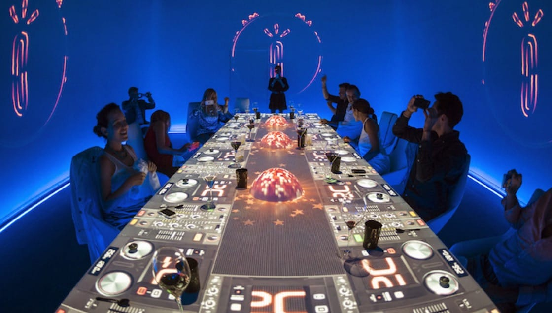 Helmed by Paco Roncero, SubliMotion offers diners a multi-sensory experience that combines food, art and technology.