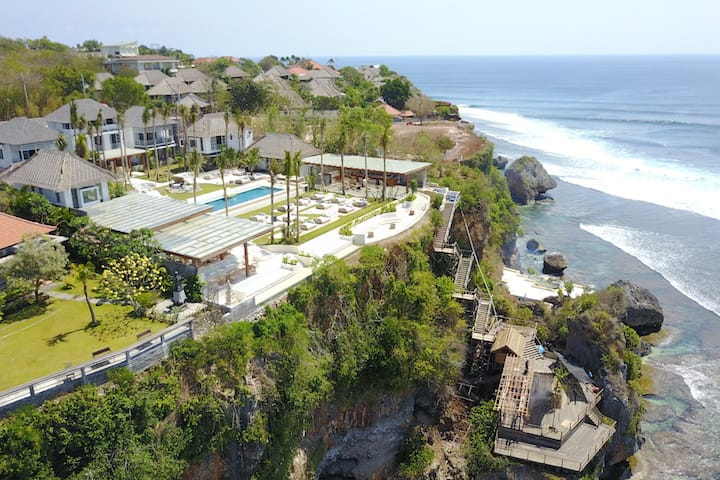 The Ulu Cliffhouse in Bali recently opened last month.