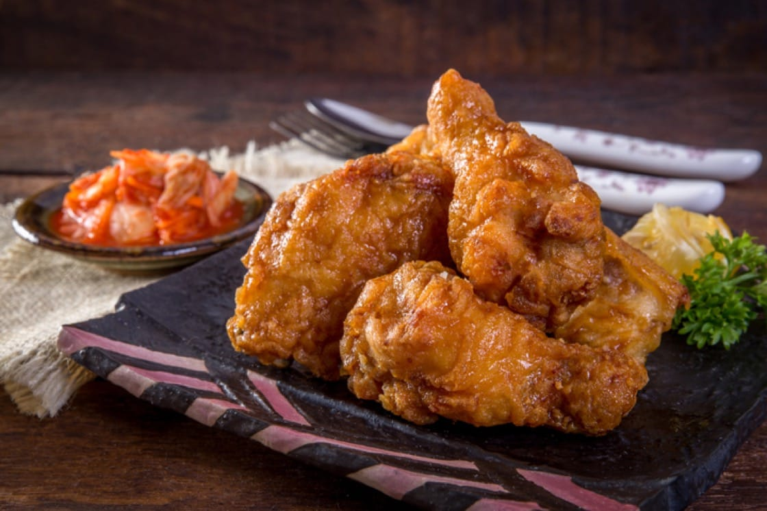 Korean-style fried chicken spawned from the popularity of American-style fried chicken in South Korea. (Photo courtesy of Oven & Fried Chicken.)