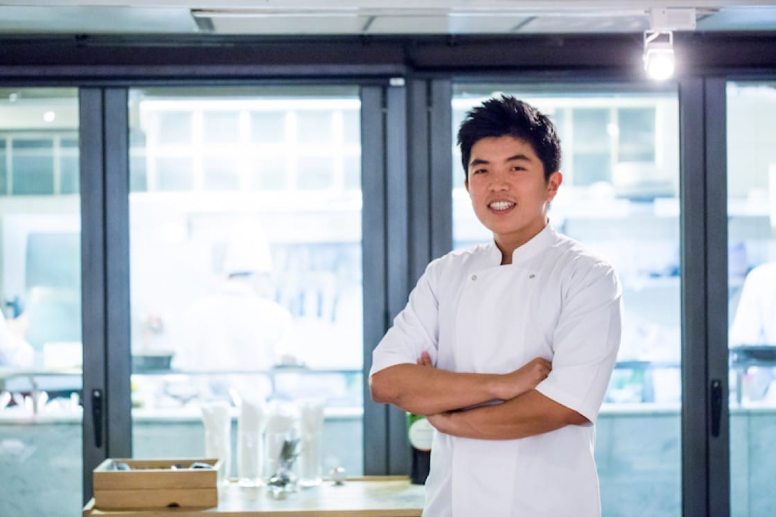 Chef Thitid Tassanakajohn, who helms the kitchens of two of the most exciting restaurants in Bangkok, Le Du and Baan.