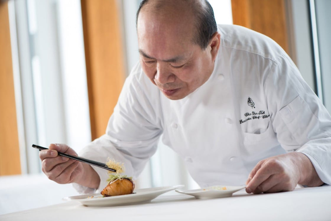 The executive Chinese chef at the Four Seasons Hotel Hong Kong, Chan's value comes from more than half a century of experience in the kitchen.