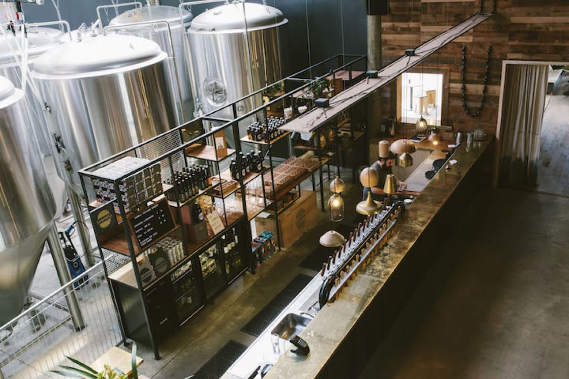 Sawmill Brewery gets its name from its location in an old sawmill. Photo Credit: New Zealand Tourism.