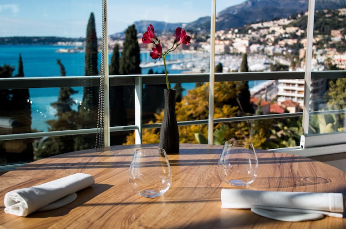 Dining at Mirazur comes with a beautiful view.