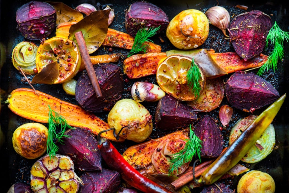 Leftover roasted potatoes and veggies are great for fritattas and traybakes.
