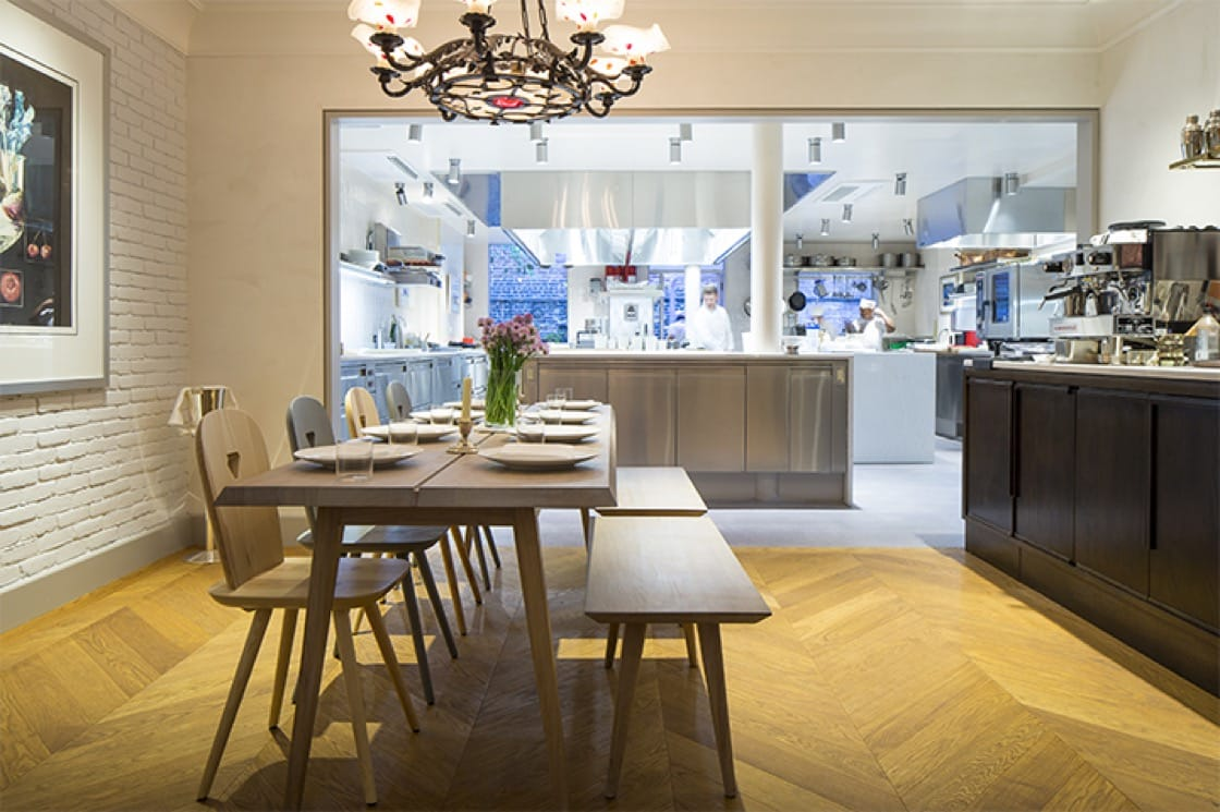 Those who dine at the chef's table at Günter Seeger NY have a front row seat to watch chef Seeger work.