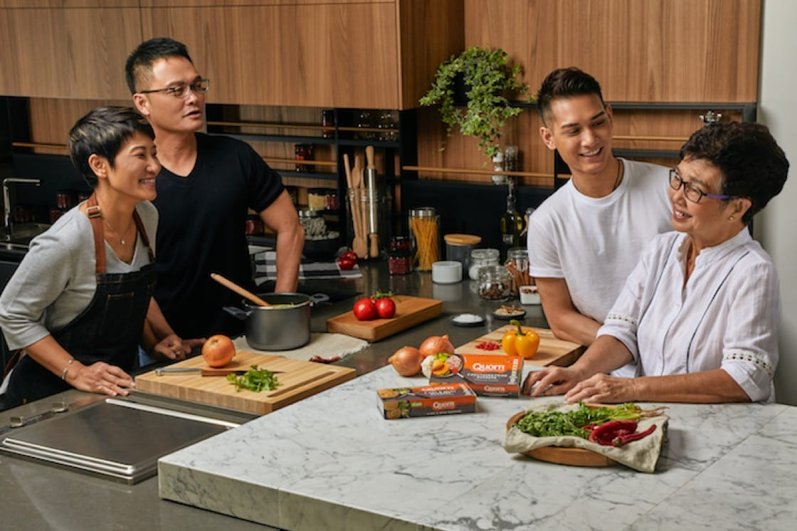 Chef Sam Leong (2nd from left) with his wife, Forest, son, Joe and mother, Mama Leong.