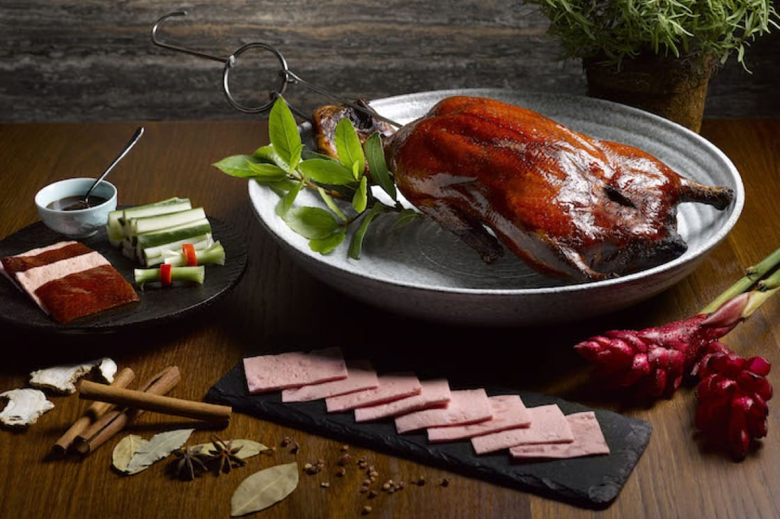 Roasted Ireland silver duck.
