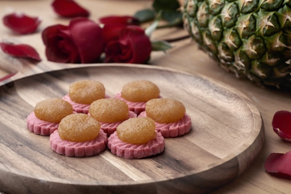 These rose-scented pineapple tarts from KELE make an auspicious gift for loved ones.