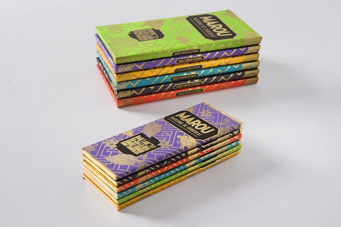 Marou's beautifully packaged single-origin bars (Credit: Marou.)