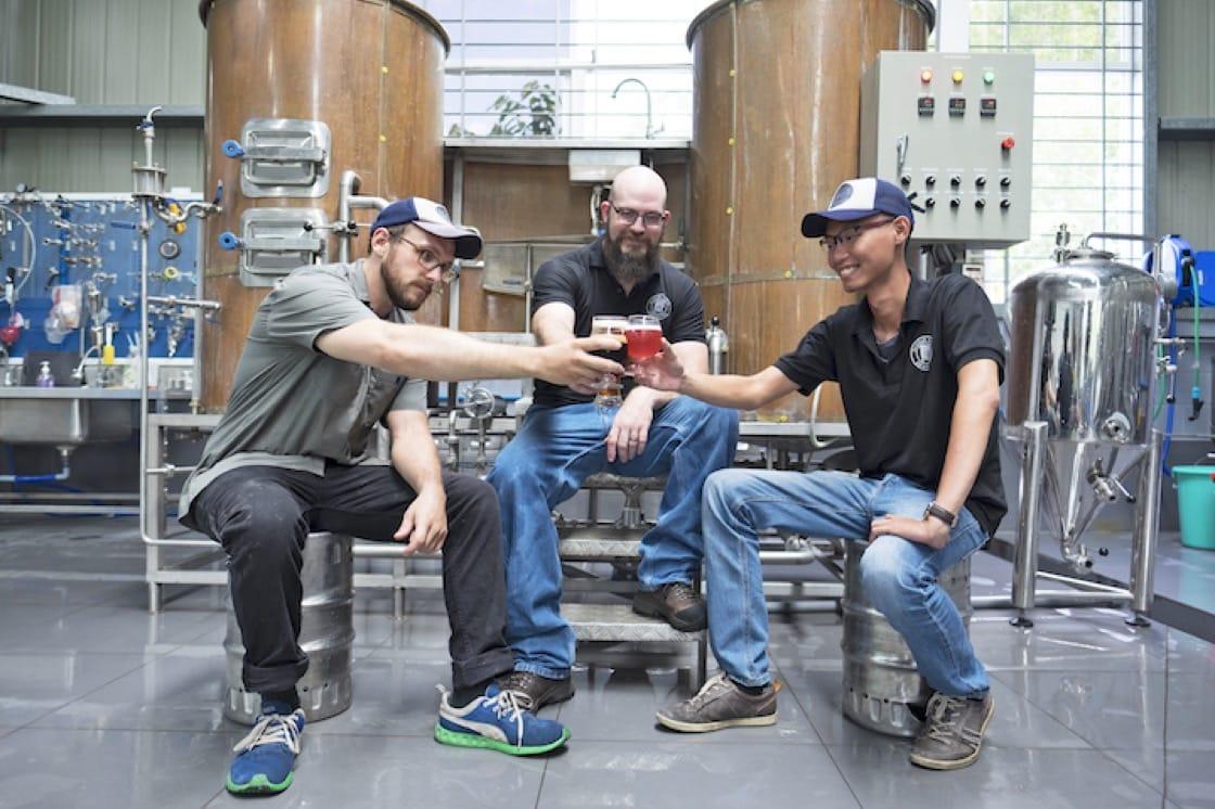 Pasteur Street's brew team.