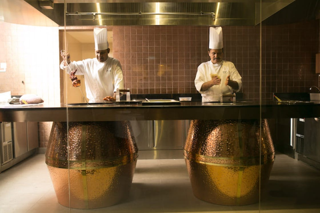 Watch as chefs prepare your food in the tandoors through the show kitchen. (Pic: Holiday Inn Singapore Orchard City Centre)