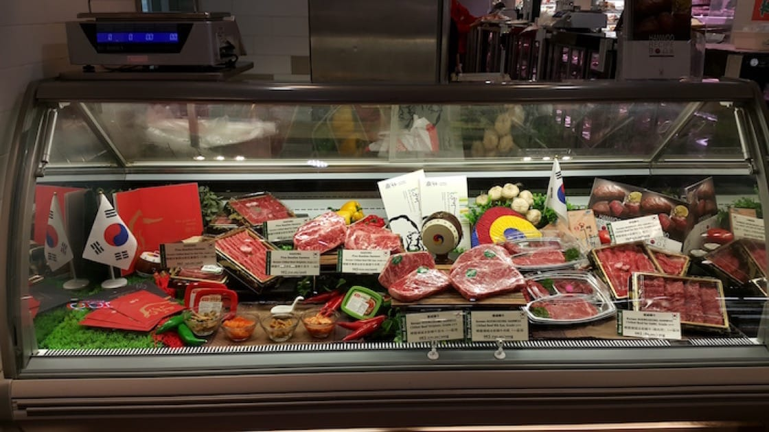 City'super is one of the first retailers which imported Korean beef to Hong Kong.