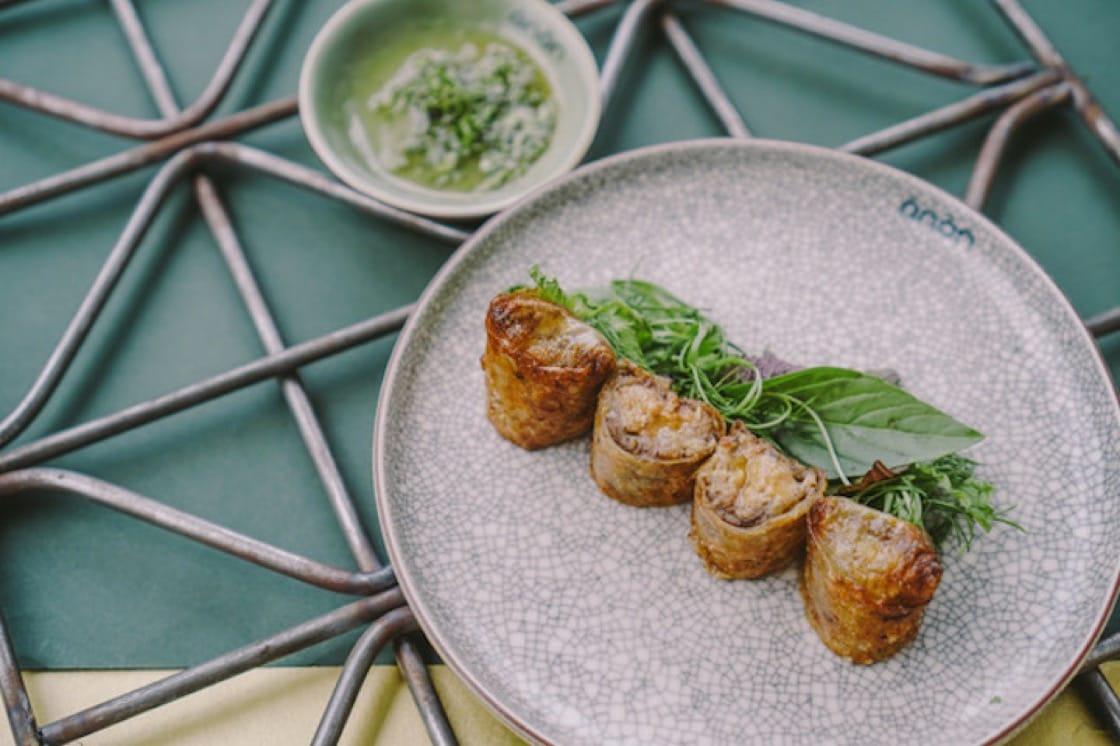 The foie gras Imperial roll at Anan Saigon.