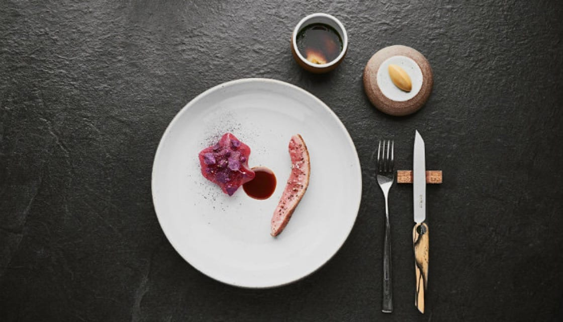 <p><b>   Love at First Bite: </b>    For this highly original dish, the Sührings age <b><i> Hungarian duck</b></i>  for a whole week before smoking it in hay, which gives it an appetizing aroma. The duck is  roasted to perfection, so that the skin is crispy while the flesh is still pink and tender, and as a final touch, it is served with tangy lingonberry jelly and a delicious duck pasta. </p>  <p>Sühring - Soi Yen Akat 3, 02-287-1799, Open daily 17:30-21:30 </p>