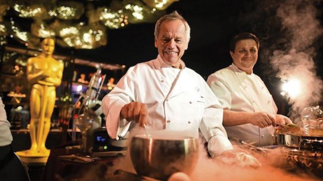 Celebrity chef Wolfgang Puck helmed the menu at the Governors Ball for the 24th consecutive year.