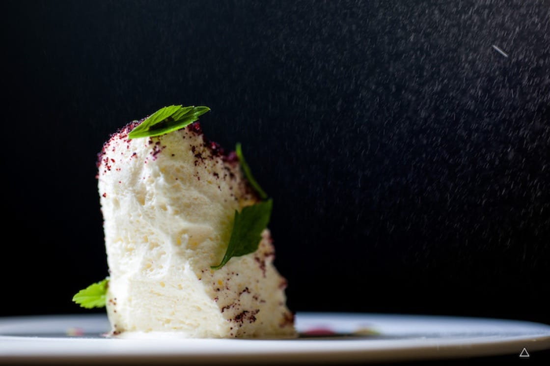 """""""Fro-Yo"""" is a pre-dessert at Dewakan scented with the oil of daun selom."""