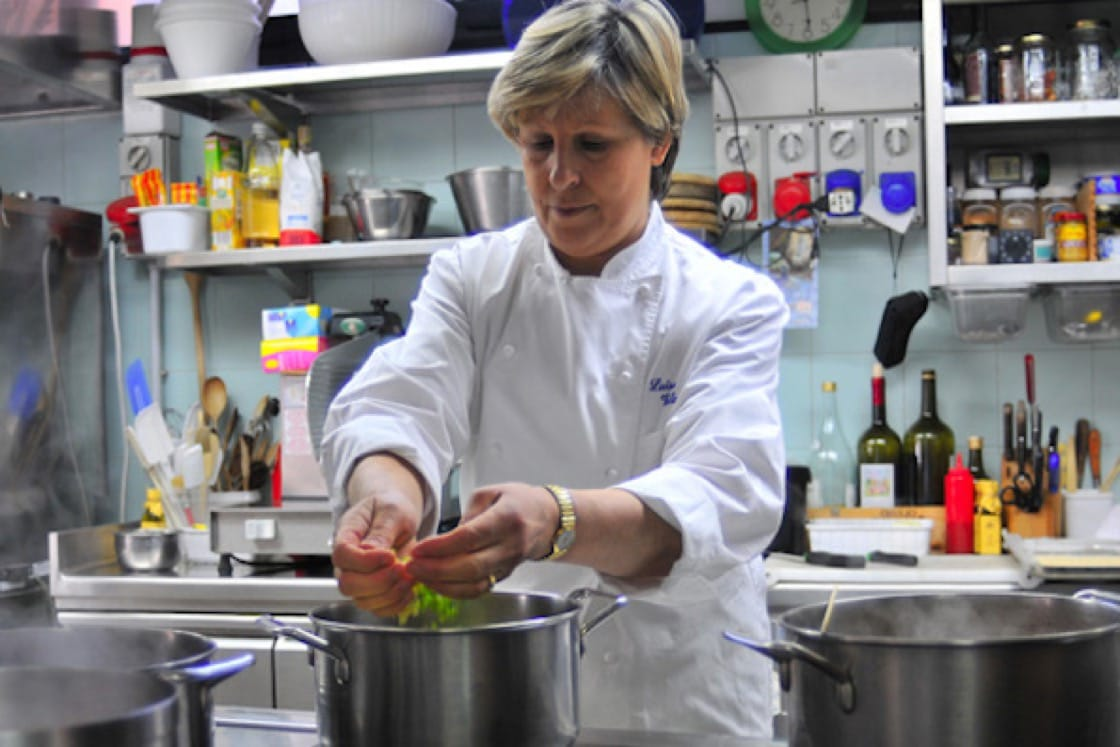 Luisa Marelli Valazza turns out traditional Italian food. (Photo courtesy of Dal Pescatore.)